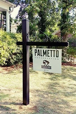 Palmetto Conservation Hanging Sign and Ornamental Post