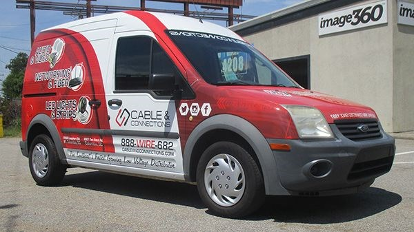 Cable and Connections Full Van Wrap