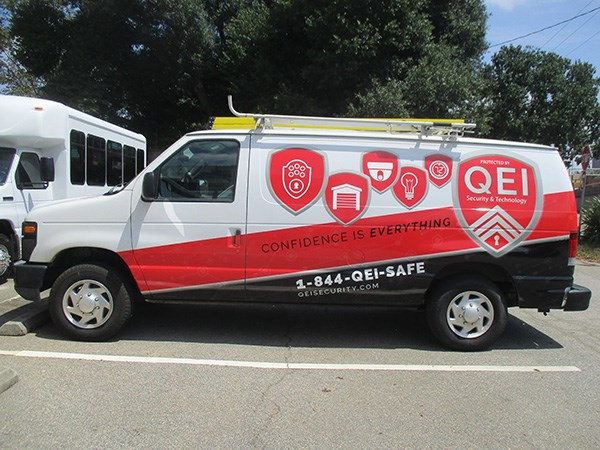 QEI Technology and Security Full Van Wrap