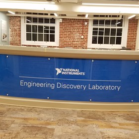 Interior Acrylic Display-National Instruments-Charlottesville Va